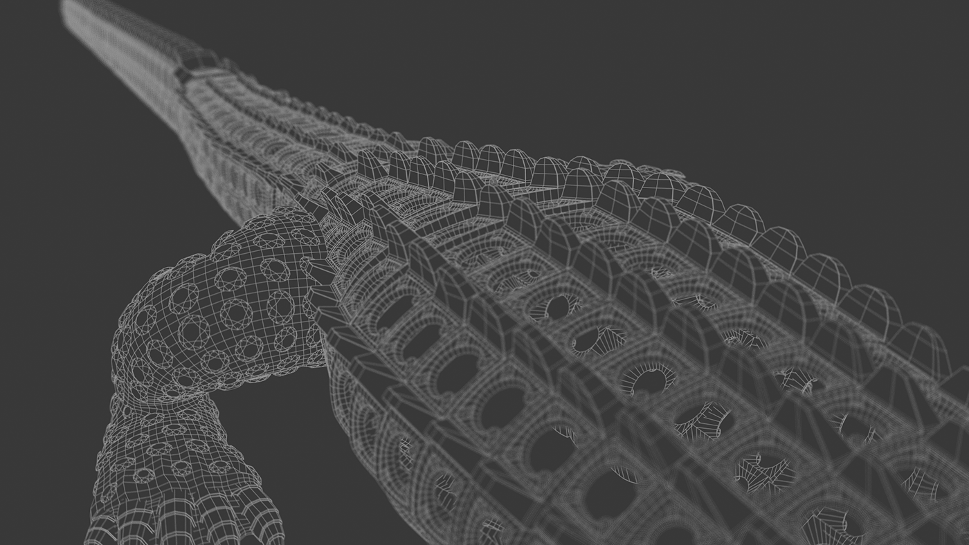 Cartier Crocodiles Wireframe