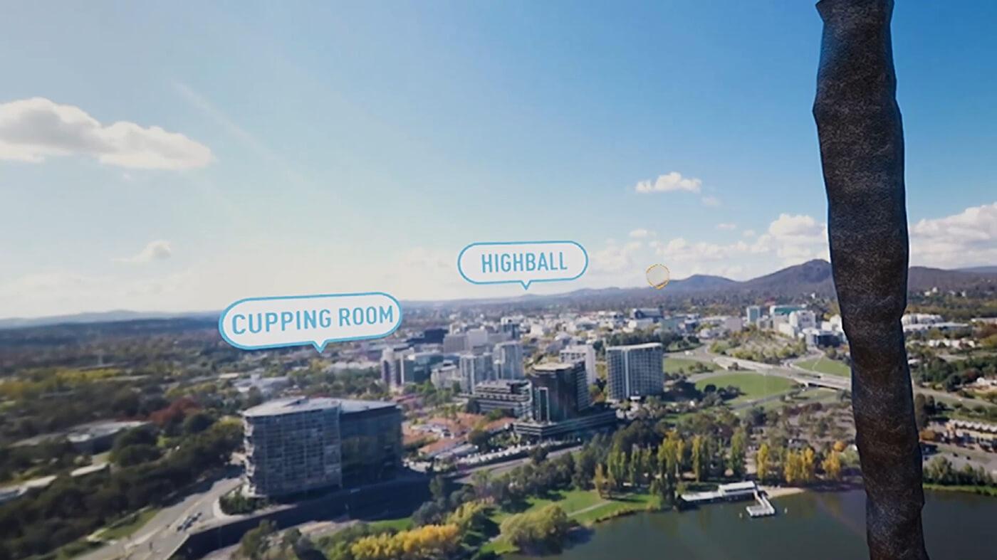 Visit Canberra Experience Menu